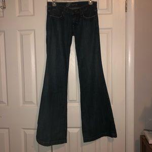 NWOT Frankie B Bell Bottom blue jeans Size 4